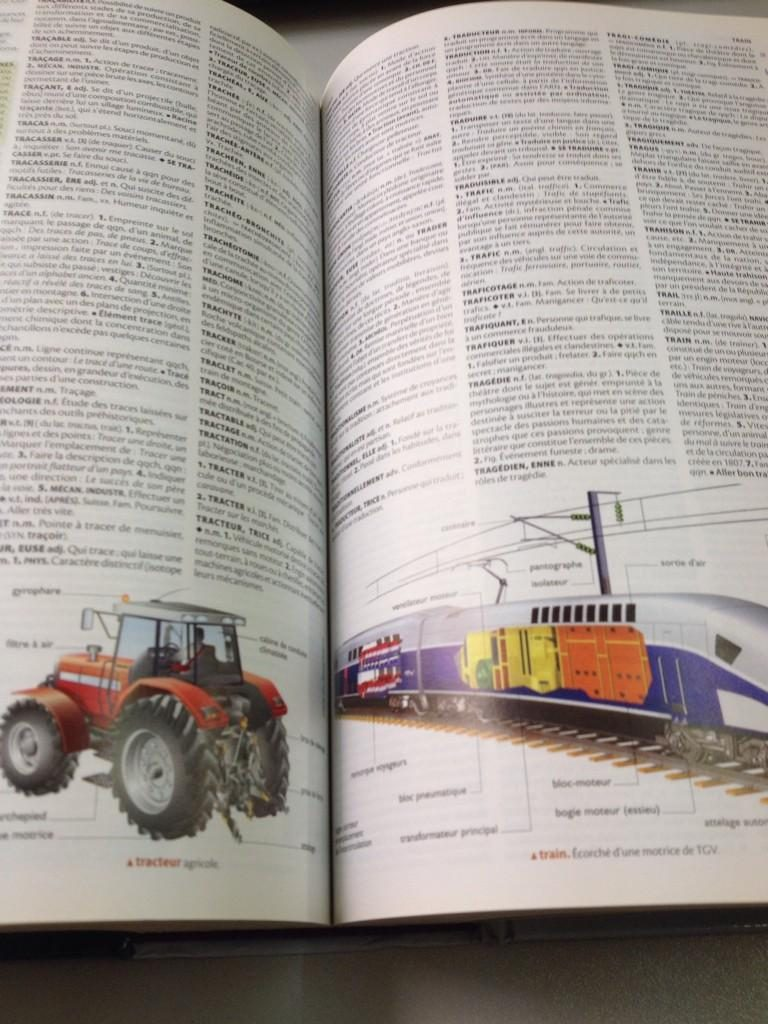 dictionnaire a la page trafic