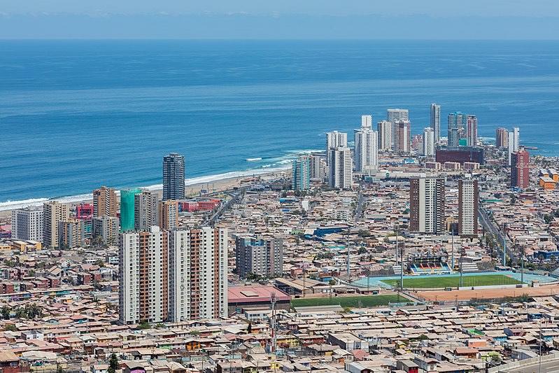 Vue sur Santiago du Chili quel voyage !
